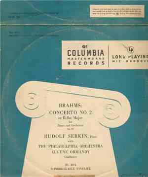 Brahms, Rudolf Serkin , With The Philadelphia Orchestra / Eugene Ormandy -  ...