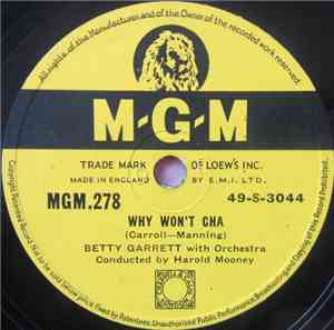 Betty Garrett - Why Won't Cha / Can I Come In For A Second?